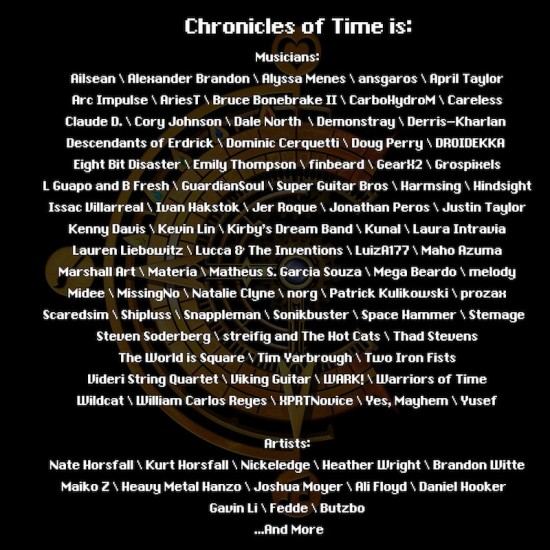 chronicles of time musicians