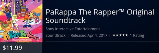 PaRappa the Rapper OST sees Digital Release this Week