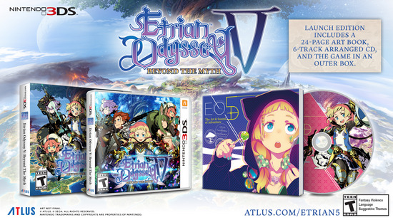 Etrian Odyssey V Launch Edition gets Arranged CD this Fall