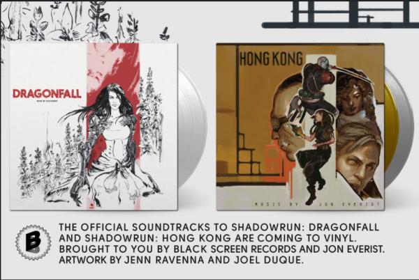 Pre-Order Jon Everist's Shadowrun DRAGONFALL and HONG KONG on Vinyl Now