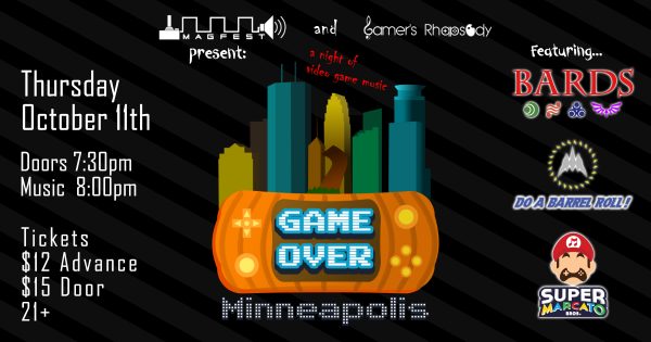 GAME OVER: Minneapolis @ The Hook & Ladder Theater