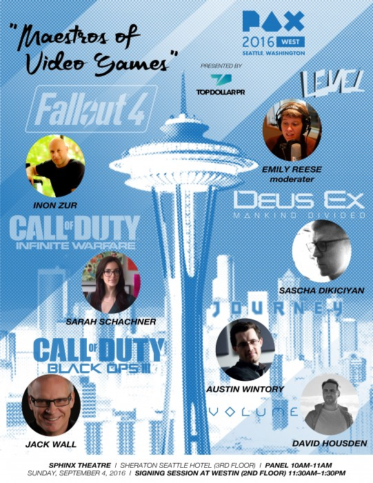 2016 PAX West Maestros of Video Games Poster