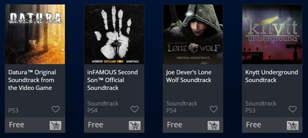 Grab some free Soundtracks from the PlayStation Store